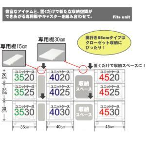 天馬 Fits フィッツユニットケース 3520(2個組)(収納ケース/衣装ケース/収納ボックス/TENMA/FITS)|k-mori|03