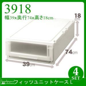 天馬 Fits フィッツユニットケース L3918(4個組)(収納ケース/衣装ケース/収納ボックス/TENMA/FITS)