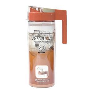 TAKEYA タケヤ化学工業 麦茶ポット 耐熱 フレッシュロック ピッチャー 2.0L プラム 冷水...