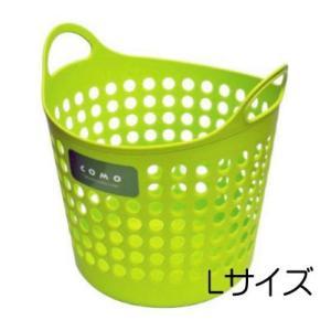 イノマタ コモ バスケット L グリーン ランドリー 洗濯 かご おもちゃ入れ 4905596446316|k-mori