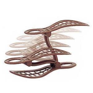 ●サンコーPC シューズキーパー 5個組 ブラウン(靴箱/くつ収納/くつホルダー/玄関収納)|k-mori