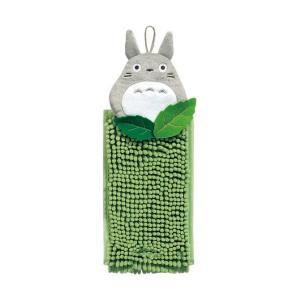 ●★ センコー 森のトトロ お手拭きタオル 15×28cm グリーン k-mori