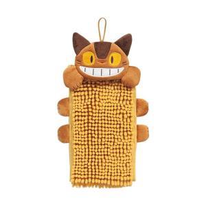 ●★ センコー にこにこネコバス お手拭きタオル 15×28cm イエロー k-mori