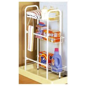 平安伸銅 ランドリー収納 洗濯機サイドラック cw-86|k-mori