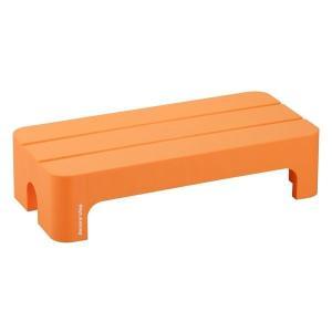 サンカ デコラステップショートL オレンジ DS-SLOR (squ+ SANKA サンイデア 足場台 踏み台 台 カラフル ポップ 花台 イス スツール)