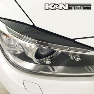 カーボン柄 BMW 3シリーズ F30 F31 セダン ツーリング アイライン ヘッドライトカバー 左右set USDM オススメ 両面テープ付き 柔らかいゴムの様な素材|k-n-int|02