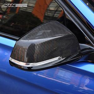 カーボン柄 BMW 3シリーズ F30 F31 セダン ツーリング ドア ミラー カバー パネル 左右セット 簡単装着 USDM|k-n-int|02
