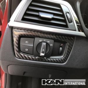 カーボン柄 BMW 3シリーズ F30 F31 F34 セダン ツーリング ヘッドライト スイッチ パネル 左右ハンドル用 内装 インテリア USDM|k-n-int|03
