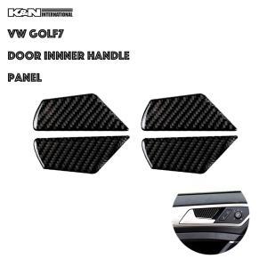 カーボン柄 VW フォルクスワーゲン GOLF7 ゴルフ7 ドア インナーハンドル パネル 前後左右1台分set 左右ハンドル用 内装 インテリア|k-n-int