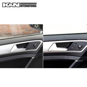 カーボン柄 VW フォルクスワーゲン GOLF7 ゴルフ7 ドア インナーハンドル パネル 前後左右1台分set 左右ハンドル用 内装 インテリア|k-n-int|04