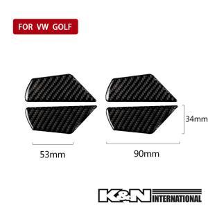 カーボン柄 VW フォルクスワーゲン GOLF7 ゴルフ7 ドア インナーハンドル パネル 前後左右1台分set 左右ハンドル用 内装 インテリア|k-n-int|05