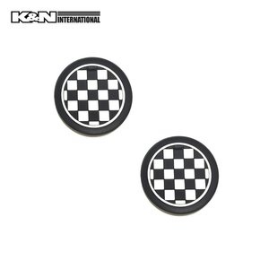 チェッカーフラッグ 白黒格子 ドリンクホルダー マット 2個set コースター 車内 インテリア 雑貨 BMW F30 F31 ミニ MINI アメ車 FJクルーザー|k-n-int|02