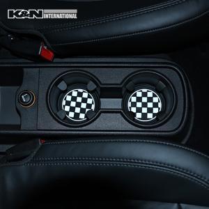 チェッカーフラッグ 白黒格子 ドリンクホルダー マット 2個set コースター 車内 インテリア 雑貨 BMW F30 F31 ミニ MINI アメ車 FJクルーザー|k-n-int|04