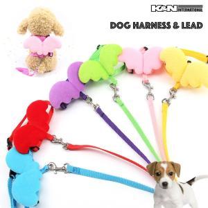 犬 ペット 小型犬 かわいい 羽 リード ハーネス セット コスプレ ハロウィン 仮装