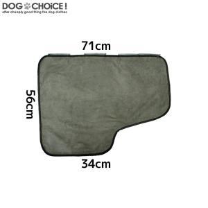 犬 ペット 自動車用 ドア プロテクター ガード 71×56cm 左右2枚セット 表面がセーム革素材なので丈夫で引っ掻き傷にも強い 保護 爪傷 汚れ 防止|k-n-int|11