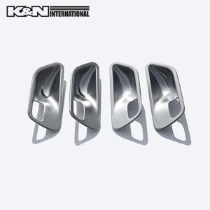 シルバー BMW 3シリーズ F30 F31 セダン ツーリング ドア インナー ハンドル パネル フロントリア1台分set 左右ハンドル用|k-n-int|03