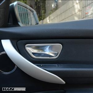 シルバー BMW 3シリーズ F30 F31 セダン ツーリング ドア インナー ハンドル パネル フロントリア1台分set 左右ハンドル用|k-n-int|06