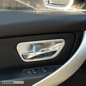シルバー BMW 3シリーズ F30 F31 セダン ツーリング ドア インナー ハンドル パネル フロントリア1台分set 左右ハンドル用|k-n-int|08
