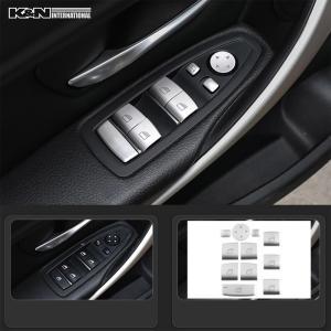 シルバー BMW 3シリーズ F30 F31 セダン ツーリング 2種類 パワーウインド スイッチ ボタン パネル 1台分 左右ハンドル用 内装 インテリア USDM k-n-int