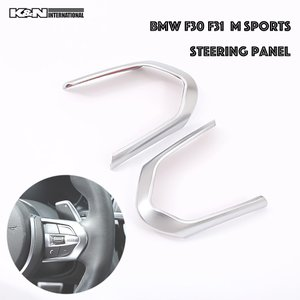 【商品詳細】 ・BMW 3シリーズ F30 F31のMスポーツ用のシルバー色のステアリング スイッチ...