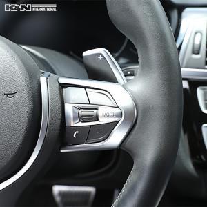 シルバー BMW 3シリーズ F30 F31 セダン ツーリング Mスポーツ用 ステアリング スイッチ回り パネル 左右ハンドル用 内装 インテリア USDM k-n-int 03