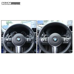 シルバー BMW 3シリーズ F30 F31 セダン ツーリング Mスポーツ用 ステアリング スイッチ回り パネル 左右ハンドル用 内装 インテリア USDM k-n-int 04