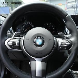 シルバー BMW 3シリーズ F30 F31 セダン ツーリング Mスポーツ用 ステアリング スイッチ回り パネル 左右ハンドル用 内装 インテリア USDM k-n-int 05