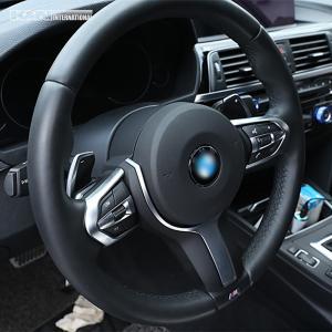 シルバー BMW 3シリーズ F30 F31 セダン ツーリング Mスポーツ用 ステアリング スイッチ回り パネル 左右ハンドル用 内装 インテリア USDM k-n-int 06