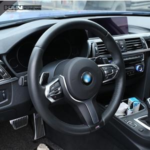 シルバー BMW 3シリーズ F30 F31 セダン ツーリング Mスポーツ用 ステアリング スイッチ回り パネル 左右ハンドル用 内装 インテリア USDM k-n-int 08