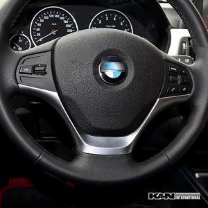 シルバー BMW 3シリーズ F30 F31 セダン ツーリング ノーマル用 ステアリング ハンドル パネル 左右ハンドル用 内装 インテリア USDM|k-n-int|03