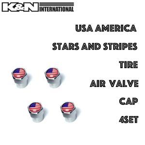 USA アメリカ 国旗 星条旗 エアバルブキャップ 自動車 タイヤ ホイール 車外 アクセサリー 雑貨 USDM アメ車 FJクルーザー タンドラ タコマ|k-n-int
