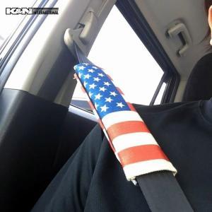 USA アメリカ 国旗 星条旗 シートベルト パット パッド チャイルド シート 赤ちゃん 子供 車内 インテリア 雑貨 USDM アメ車 FJクルーザー タンドラ k-n-int 03