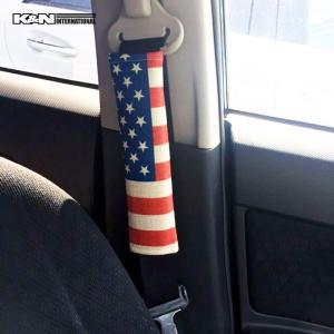 USA アメリカ 国旗 星条旗 シートベルト パット パッド チャイルド シート 赤ちゃん 子供 車内 インテリア 雑貨 USDM アメ車 FJクルーザー タンドラ k-n-int 04