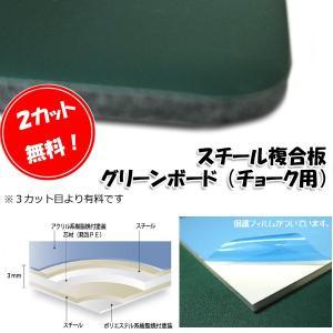 [大型便] スチール複合板 グリーンボード チョーク用 3mm厚910mm×1820mm|k-nsdpaint