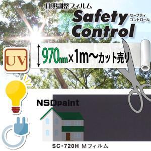 日照調整フィルム セーフティコントロール SC-720H Mフィルム 970mm幅×1M(単価)切売り 内貼り用 k-nsdpaint