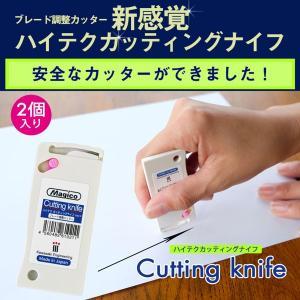ハイテクカッティングナイフ(裏紙カッター)2個セット|k-nsdpaint