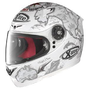 NOLAN X-Lite X-802R C.Checa (Flat White)(チェカ フラット ホワイト) レプリカモデル フルフェイス ヘルメット|k-oneproject