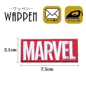 スパイダーマン キャラクター ワッペン 刺繍 アイロン MARVEL ロゴ ステッカー シール 縦3.1cm×横7.5cm 正規品 メール便可 k-oneshop