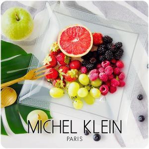 【MICHEL KLEIN】軽量 スクエア ガラスプレート 大 26.7cm 洋食器 白い食器 四角...