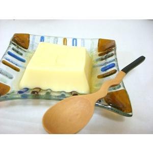 型吹きガラススクエア小皿13cm 長方形 ブラウンandブルー ハンドメイド・手作り・ガラス食器 k-s-kitchen