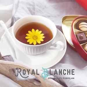 【Royal Blanche】 ティーカップ&ソーサー 200cc 日本製 美濃焼 陶器 白磁 白い...