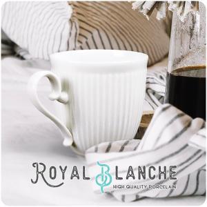 【Royal Blanche】 軽量 マグカップ 400cc 日本製 美濃焼 陶器 白磁 白い食器 ...
