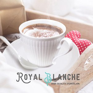 【Royal Blanche】 コーヒーカップ&ソーサー 200cc 日本製 美濃焼 陶器 白磁 白...