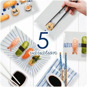 選べる5柄 藍の長角皿(大) 22.8cm アウトレット 日本製 美濃焼 陶器 和食器 プレート 長皿 角皿 長角皿 焼物皿 刺身皿 魚皿 カフェ風 北欧風 おしゃれ k-s-kitchen