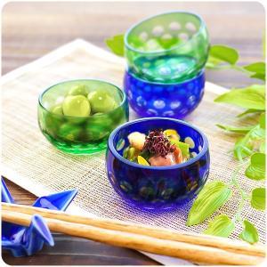 受け継がれたカットグラスの工法で手づくりされた切子の小鉢。 切子ならではの上品な輝きと色合いが、 小...