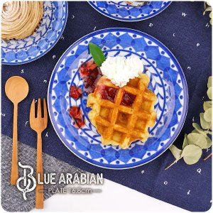 【ブルーアラビアン】取り皿 16.8cm アウトレット込 日本製 美濃焼 陶器 洋食器 お皿 中皿 ...