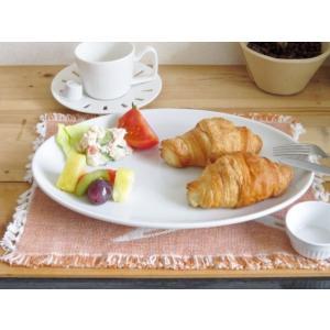 洋食器 オーバルプレート 31.5cm 特大皿 日本製 アウトレット 白い食器 ホテル食器 レストラ...