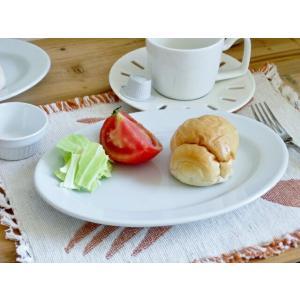 洋食器 オーバルリムプレート 23.3cm 中皿 日本製 アウトレット 白い食器 ホテル食器 レスト...