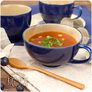 【Natural Navy】スープカップ 200cc アウトレット込 日本製 美濃焼 陶器 洋食器 スープマグ スープボウル マグカップ ティーカップ コップ 北欧風 おしゃれ k-s-kitchen