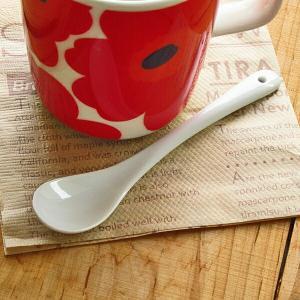 白い食器 コーヒー・ティー まぜまぜスプーン アウトレット 訳あり 日本製 美濃焼 陶器 食器 カトラリー かわいい おしゃれ カフェ風 北欧風 ポーセリンアート k-s-kitchen